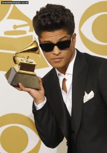Bruno Mars .. The Man Himself at theMusician Bruno Mars, winner of the Best Male Pop Vocal Performance award for